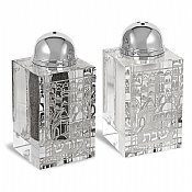 Shabbat Crystal Salt and Pepper Set