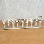 Modern Crystal Oil Menorah