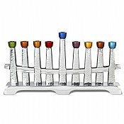 Colors on the Horizon Aluminum Menorah