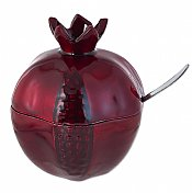 Red Pomegranate Honey Pot