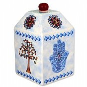 Hamsa and Tree of Life Tzedakah Box