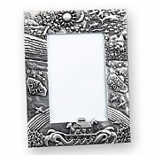 "Noah's Ark Pewter Picture Frame 4""x6"""