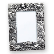 Noah's Ark Pewter Picture Frame 3'x5'