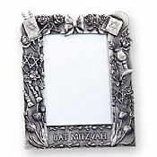 "Bat Mitzvah Pewter Picture Frame 3""x5"""