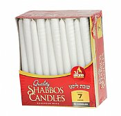 Long Tapper White Shabbat Candles 7 Hour Burn - 30 Pack