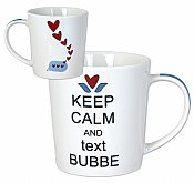 Keep Calm and Text Bubbe Mug