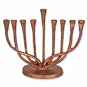 Rustic Copper Finish Menorah