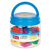 40 Alef Bet Magnetic Letters in Reusable Tub