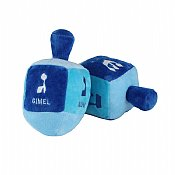 Plush Embroidered Dreidel with Rattle