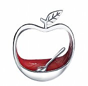 Upright Apple Shape Honey Dish with Spoon