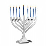 Small Classic Menorah with Birthday Candles