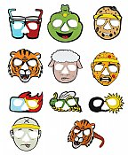 Passover Ten Plagues Cartoon Glasses - 10 Full Face Characters