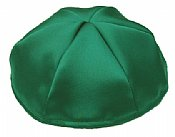 Satin Kippot with Optional Personalization - Kelly Green