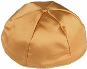 Satin Kippot with Optional Personalization - Gold