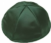 Satin Kippot with Optional Personalization - Green