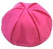 Satin Kippot with Optional Personalization - Hot Pink