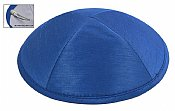 Raw Silk Imprinted Kippot - Royal