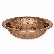 Copper Plated Hammered Wash Bowl