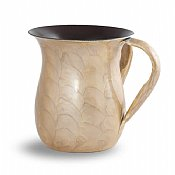 Enamel over Stainless Steel Wash Cup - Beige